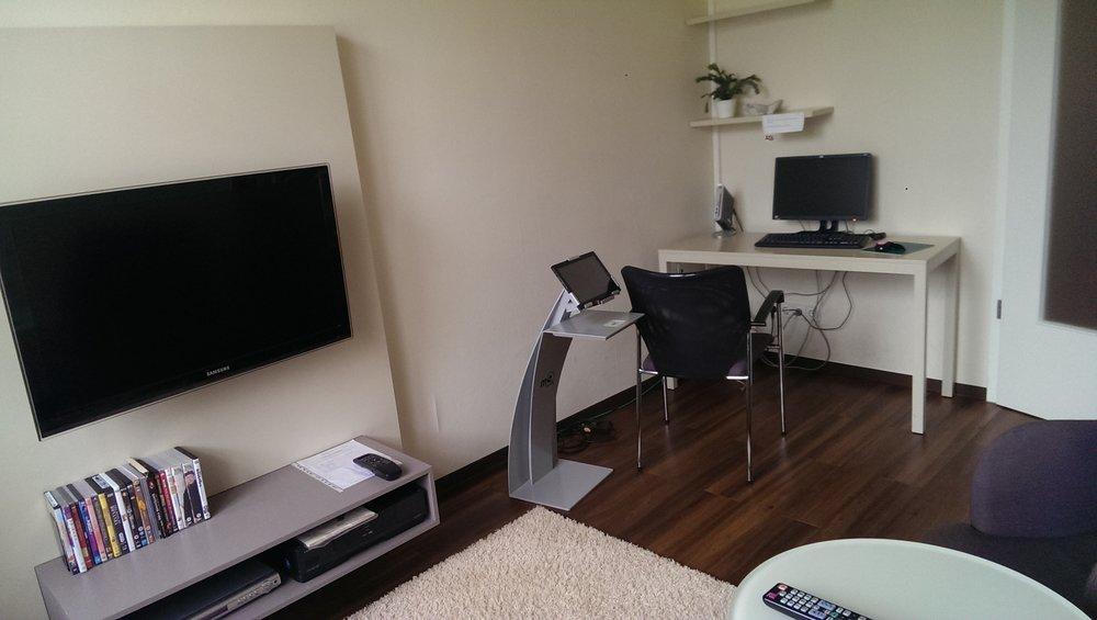 TV Room with Patient Computer