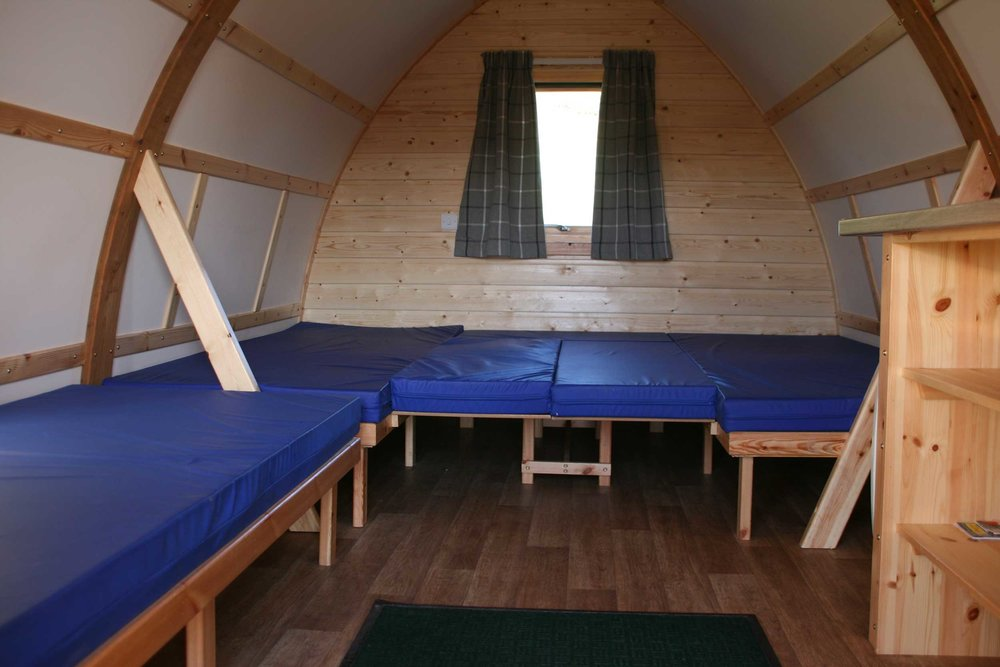 Spacious, comfortable and cosy accommodation in the Glentress Forest Lodges pods