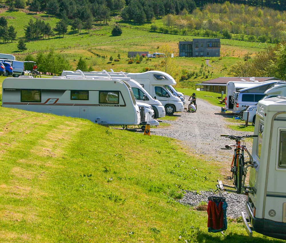 Motorhome and Caravan pitches with electric hook-ups avalable