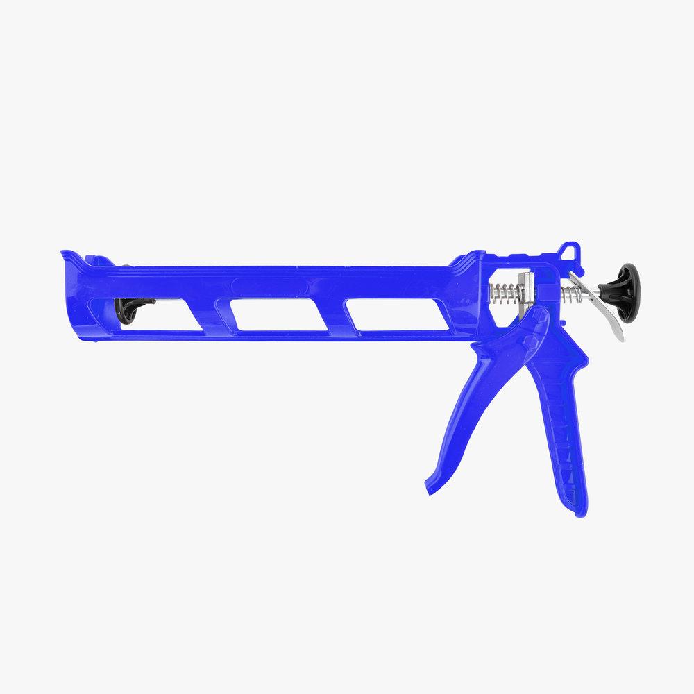 Blue Plastic Caulking Gun