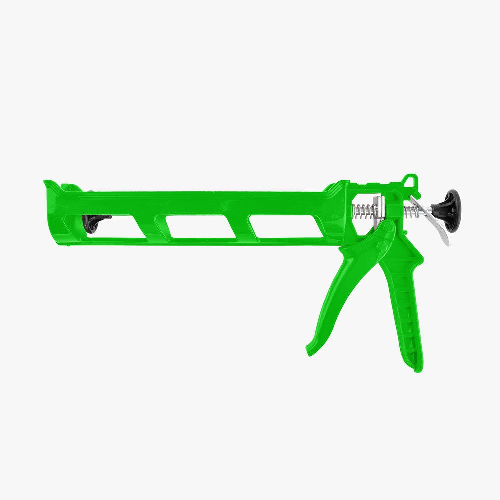 Green Plastic Caulking Gun