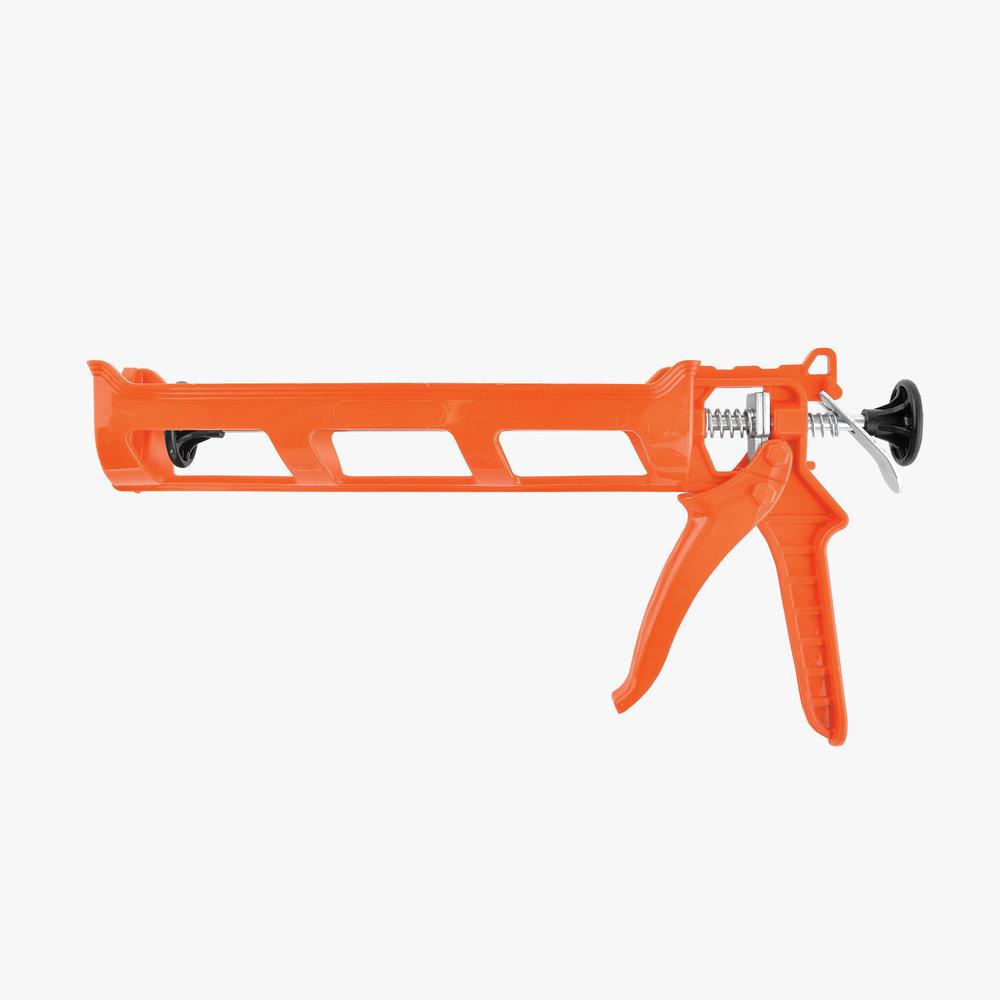 Orange Plastic Caulking Gun
