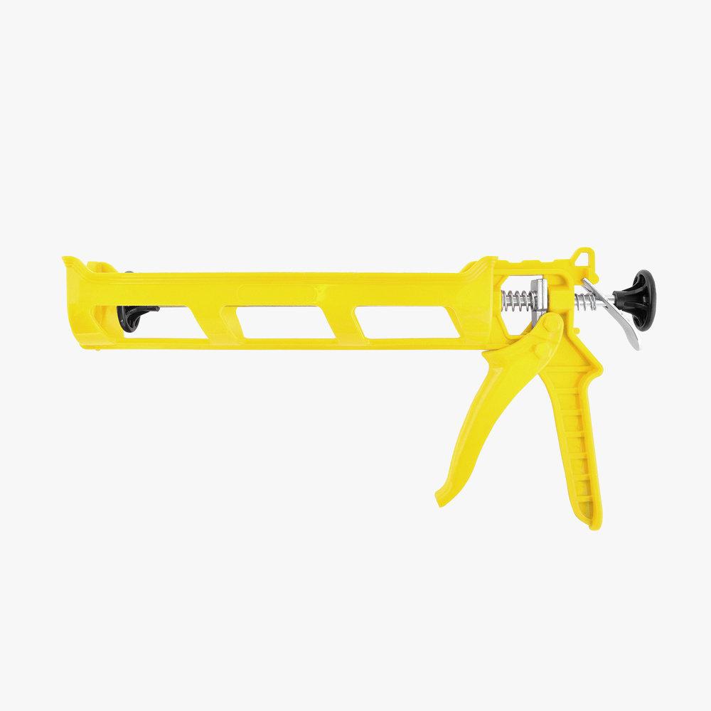 Yellow Plastic Caulking Gun