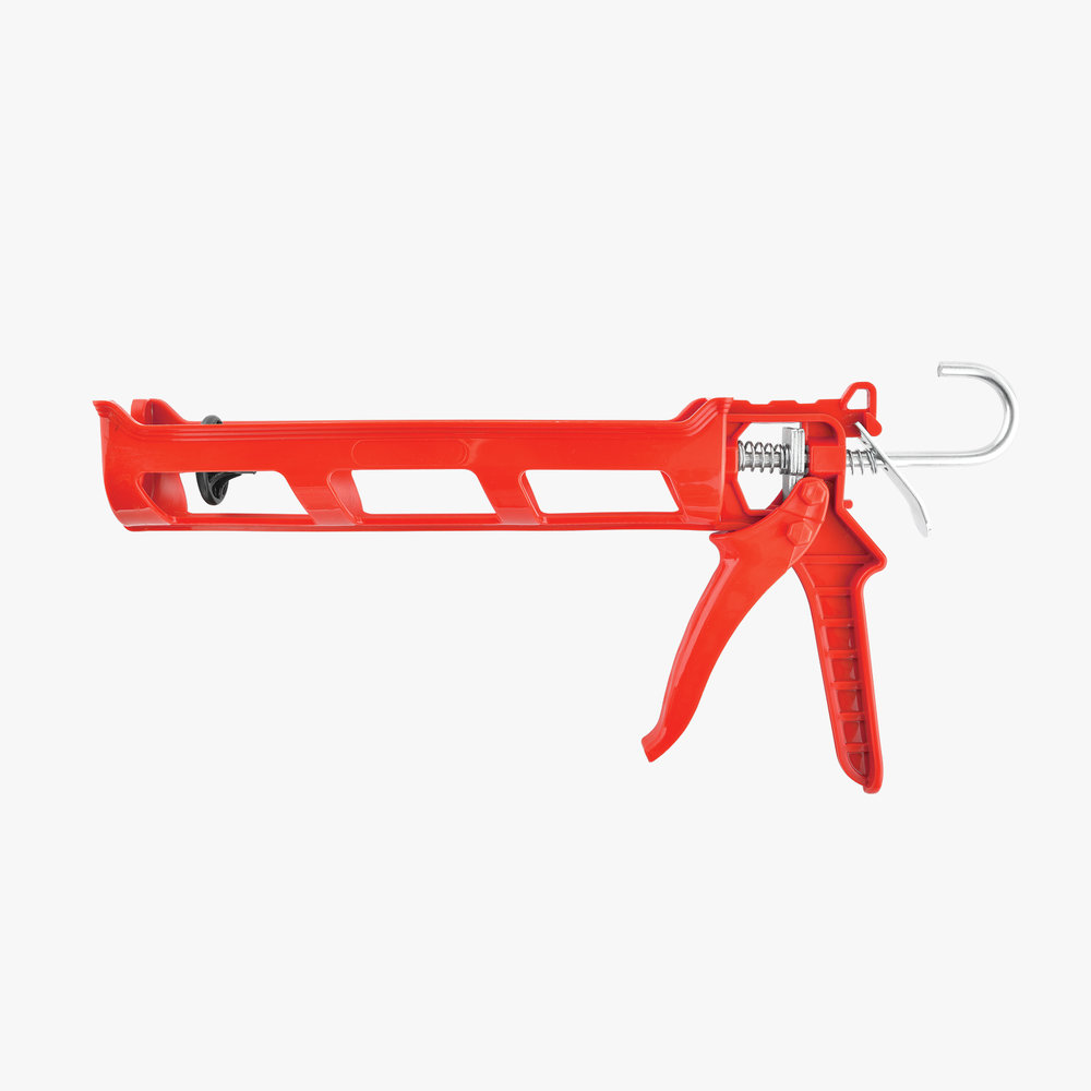 Red Plastic Caulking Gun