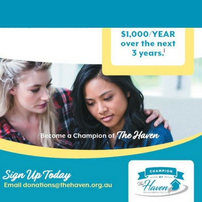 Find out how your business can become a Champion of The Haven!  Click here for more details>