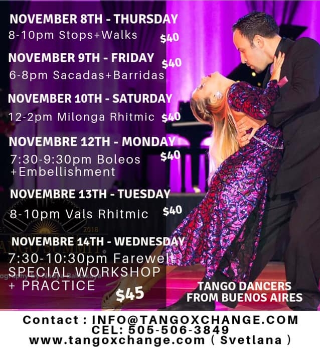 Analía Centurión & Jeremías Fors - Argentine Tango Workshop and Private Classes