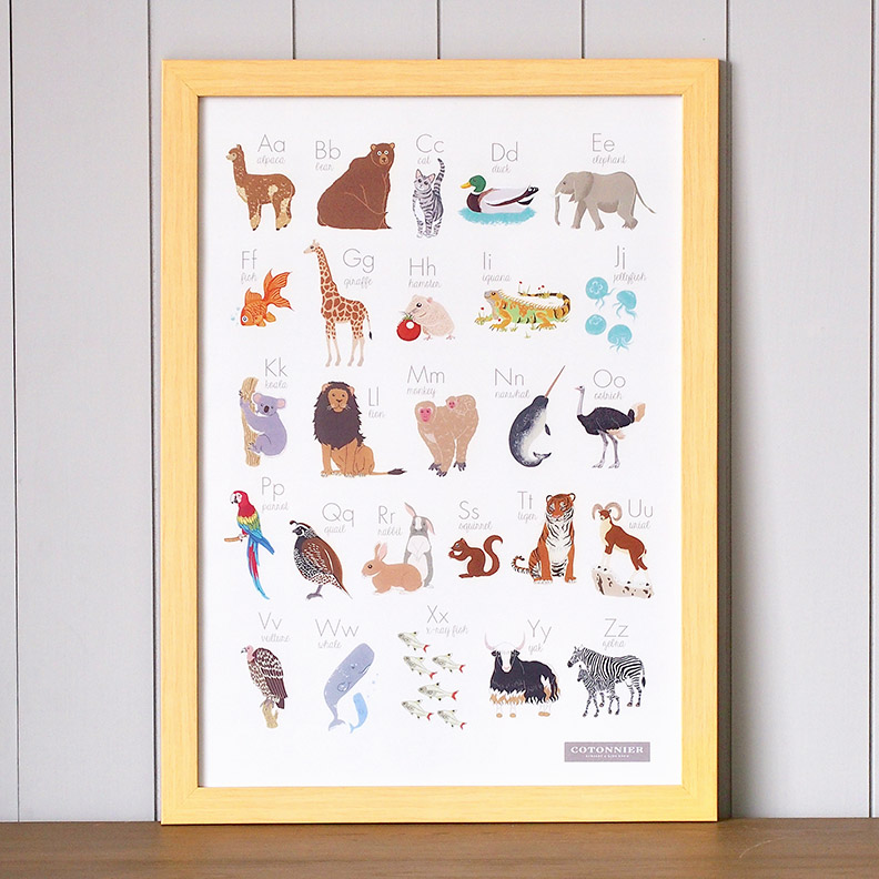 MINI-SYS.COM by S Y S illustration kids art poster a-z animal alphabet 72 s.jpg
