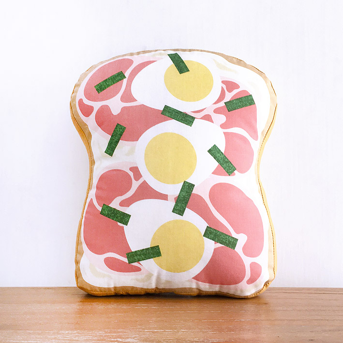 patterns & motifs cotonnier decoration pillow ham egg toast.jpg