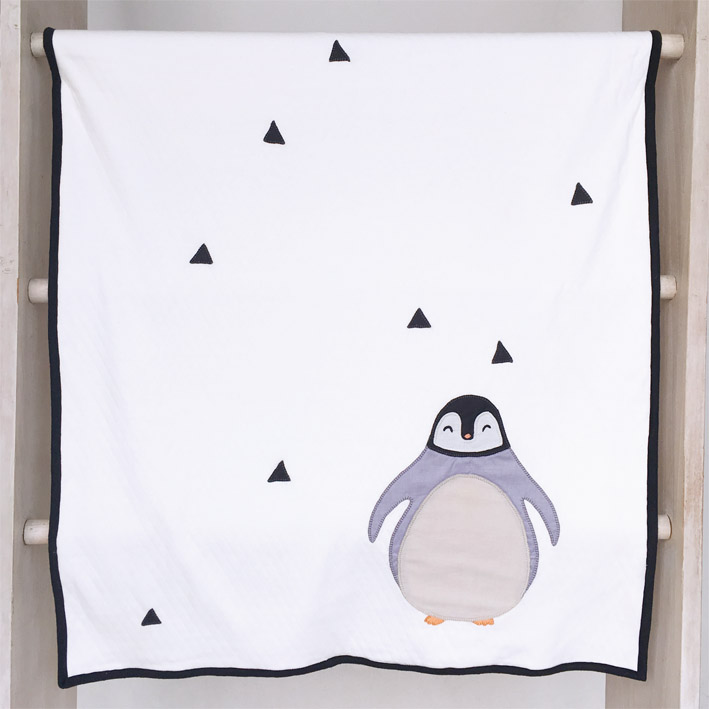 patterns & motifs cotonnier jersey blanket penguin white.jpg