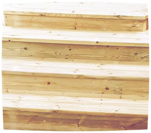 Detalj från trätrappa Bygg & Murnings Konstr.