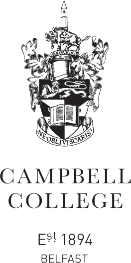 CAMPBELL COLLEGE BELFAST BADGE BNI