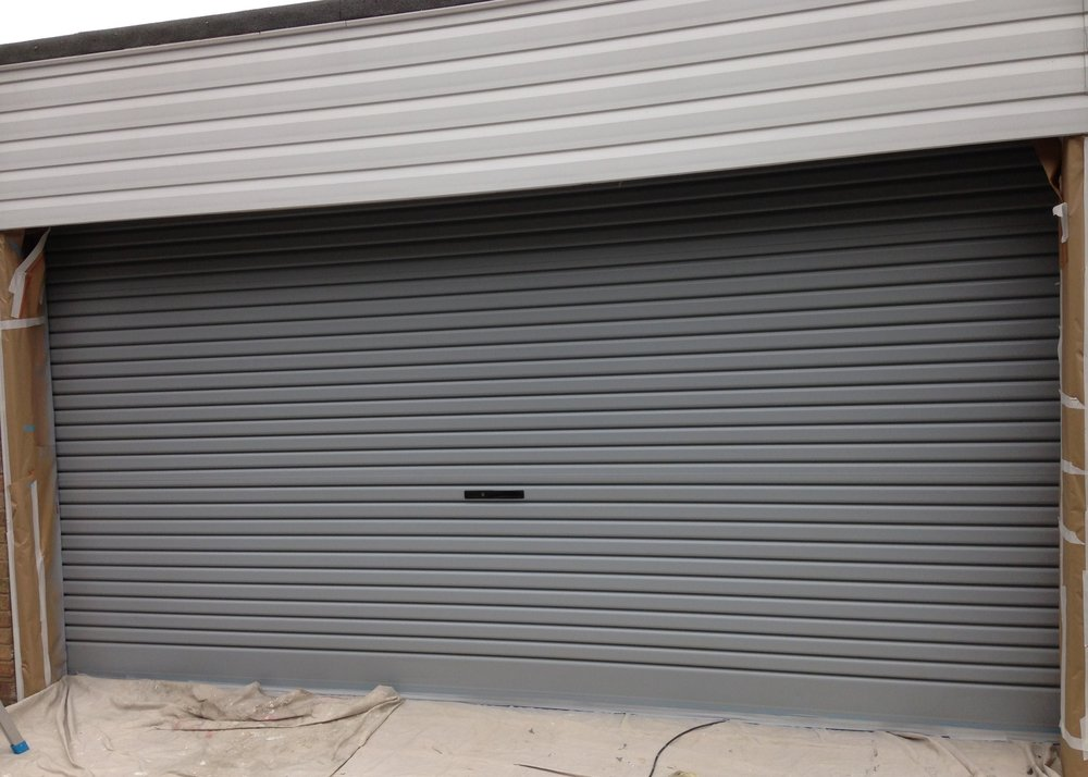 Garage door transformed using Kolorbond.
