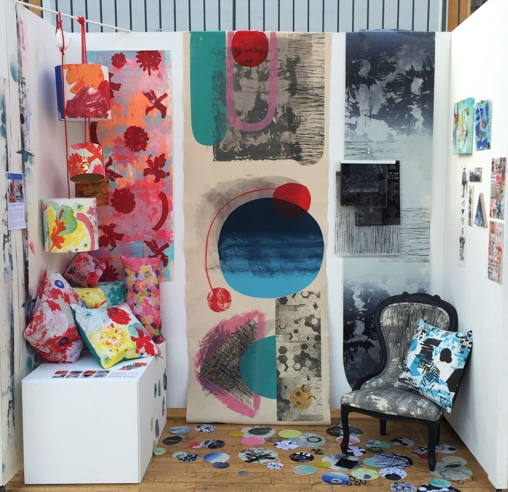 Studio Showcase - This group exhibition at Out of the Blue Drill Hallwas to showcase the artist, designers and makers in their Abbeymount Studio's. I wanted to show the diversity of my design capabilities from more commercially focused home wear prints to large scale installation pieces.