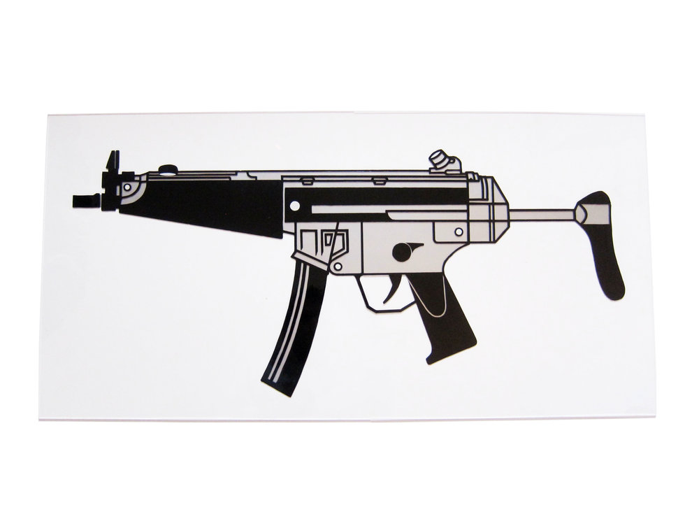 Heckler & Koch MK5. Enamel on Perspex