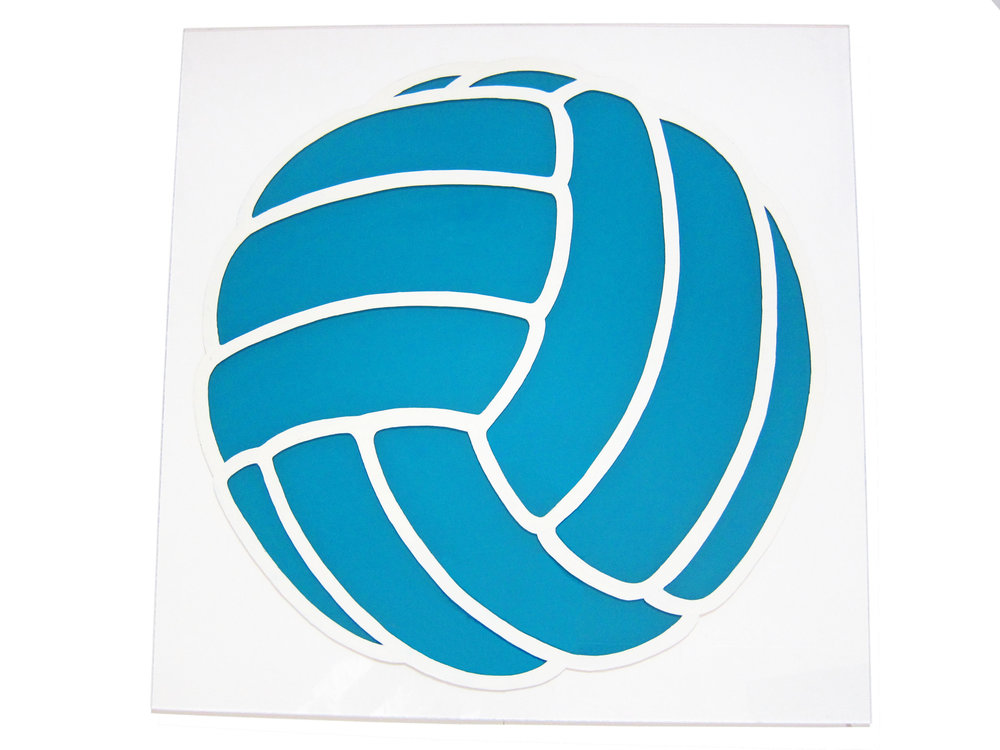 Volley Ball. Enamel on Perspex.
