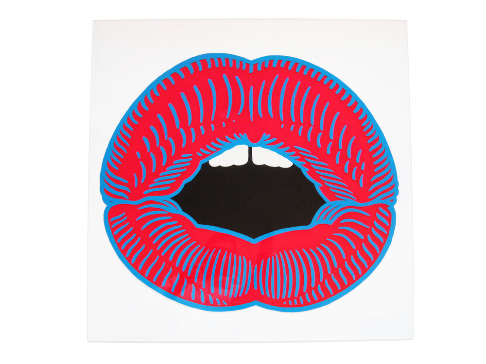 Mouth. Enamel on Perspex