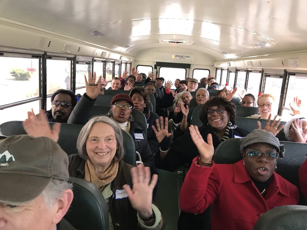 The OneWaterPartnership Inspirational Bus Tour gets on the road! April 8, 2018.