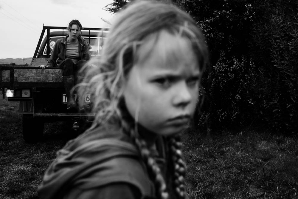 The Family Photographer Podcast Jenny Stein Interview with Niki Boon black and white photo of serious girl