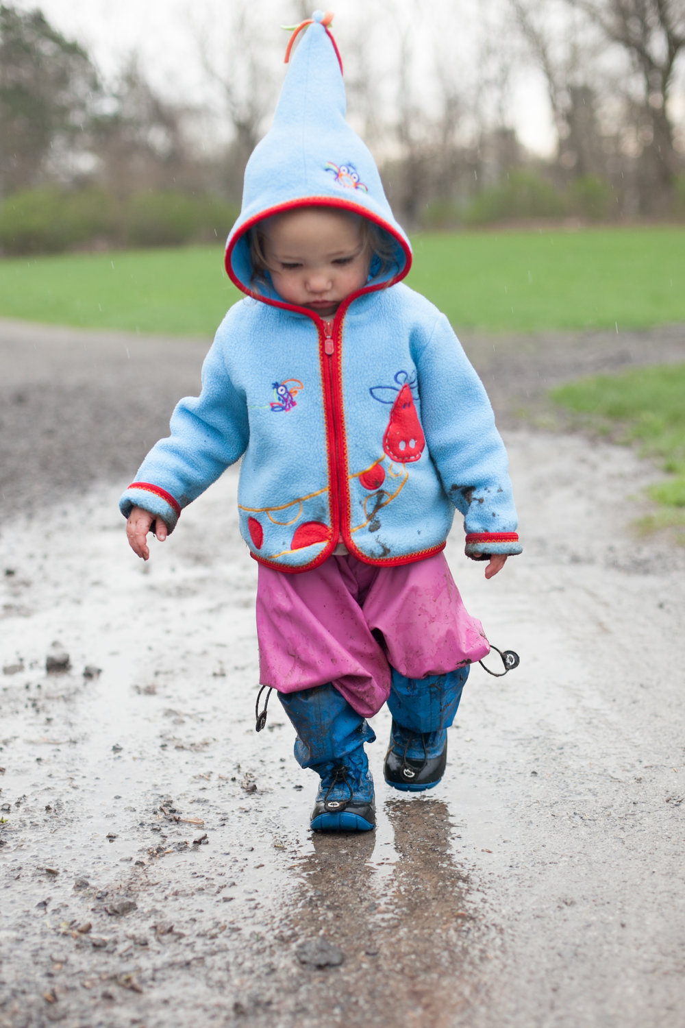The Family Photographer Podcast Jenny Stein My Mayu Boots Child walking in rain