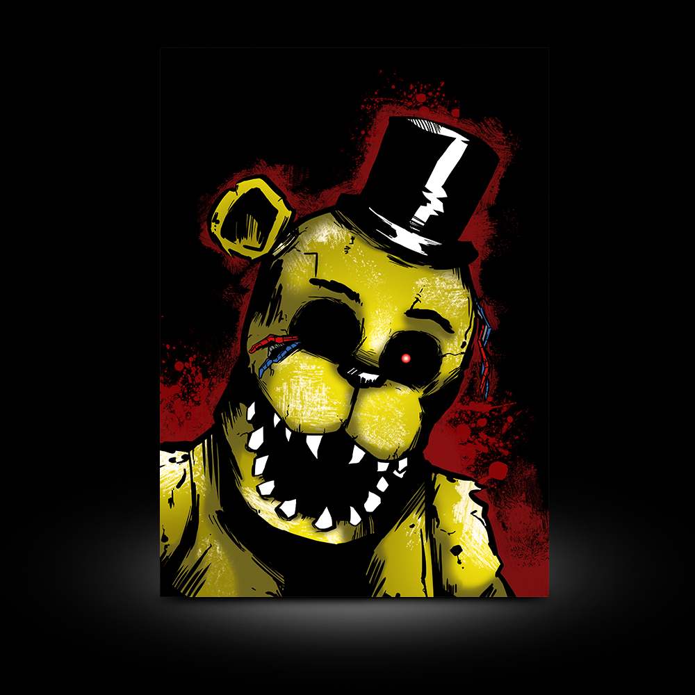 Golden Freddy A3 PRINT