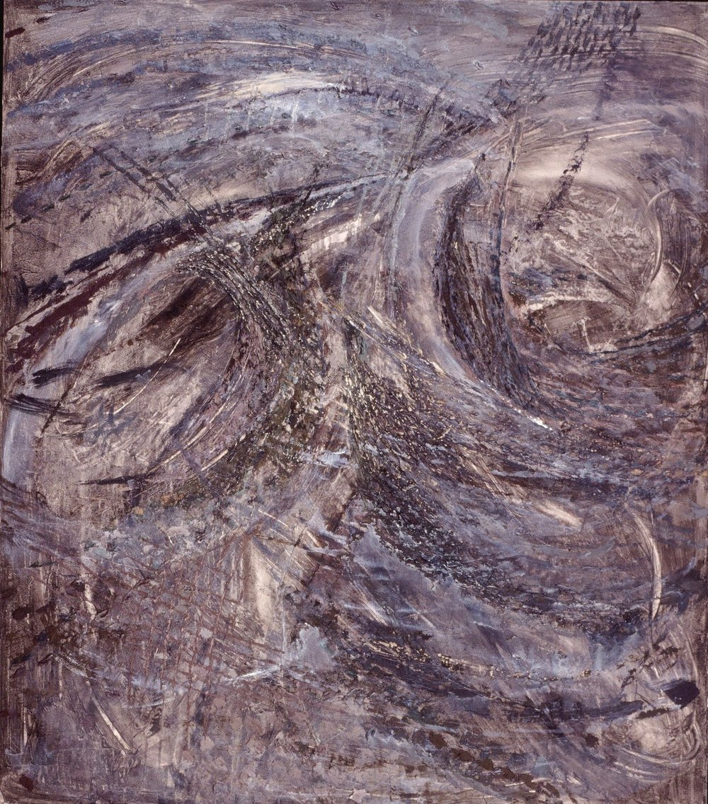 "Tempest, oil on canvas, 64""x56"" 1990"
