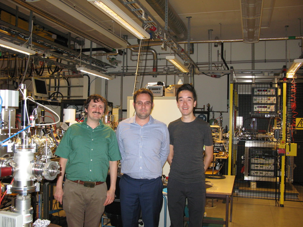 Left to right: Mark H Stockett, James N Bull and Michael Scholz in the DESIREE main lab.