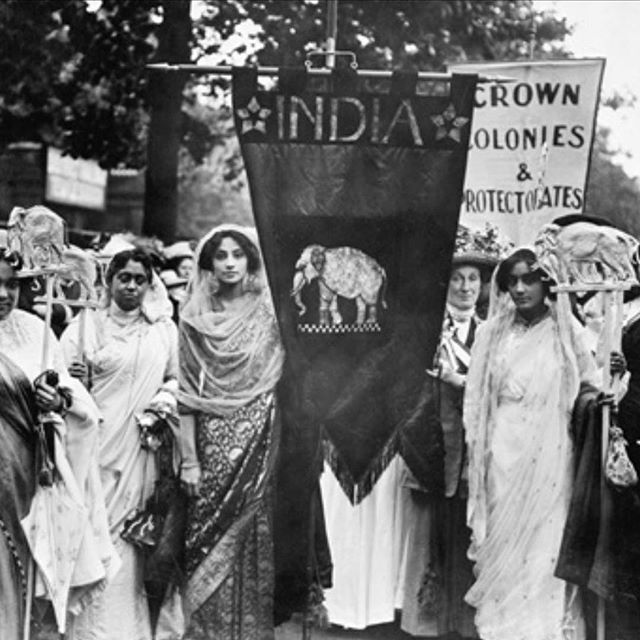 Writing as Activism ~ Taking inspiration from my essay for my latest blog post. Can we become more agentic and intentional in our writing and have a positive impact in the world,  beyond ourselves? How can Writing be therapeutic to whole communities? ✍🏽✊🏽(link in bio) I'd be interested in hearing your thoughts 🤓 (photo of Indian women supporting suffragettes in London 1911 ~ British Library)