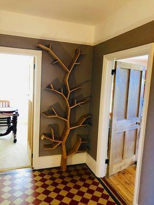 Oak Tree Shaped Bookcase