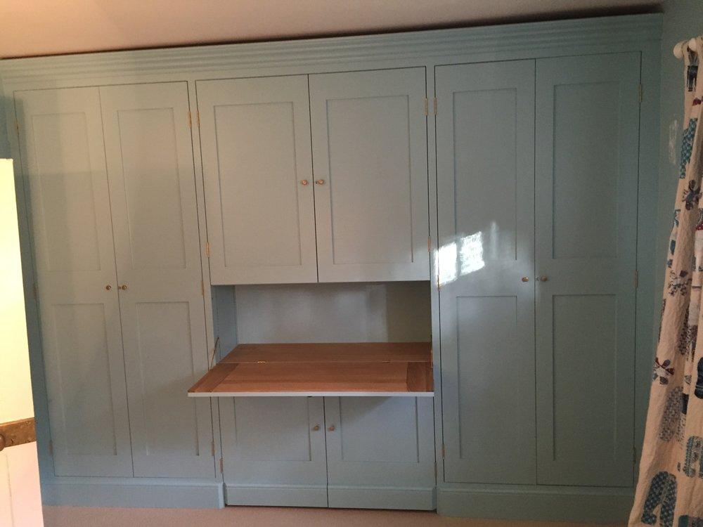 Built in Cupboards with Oak Desk