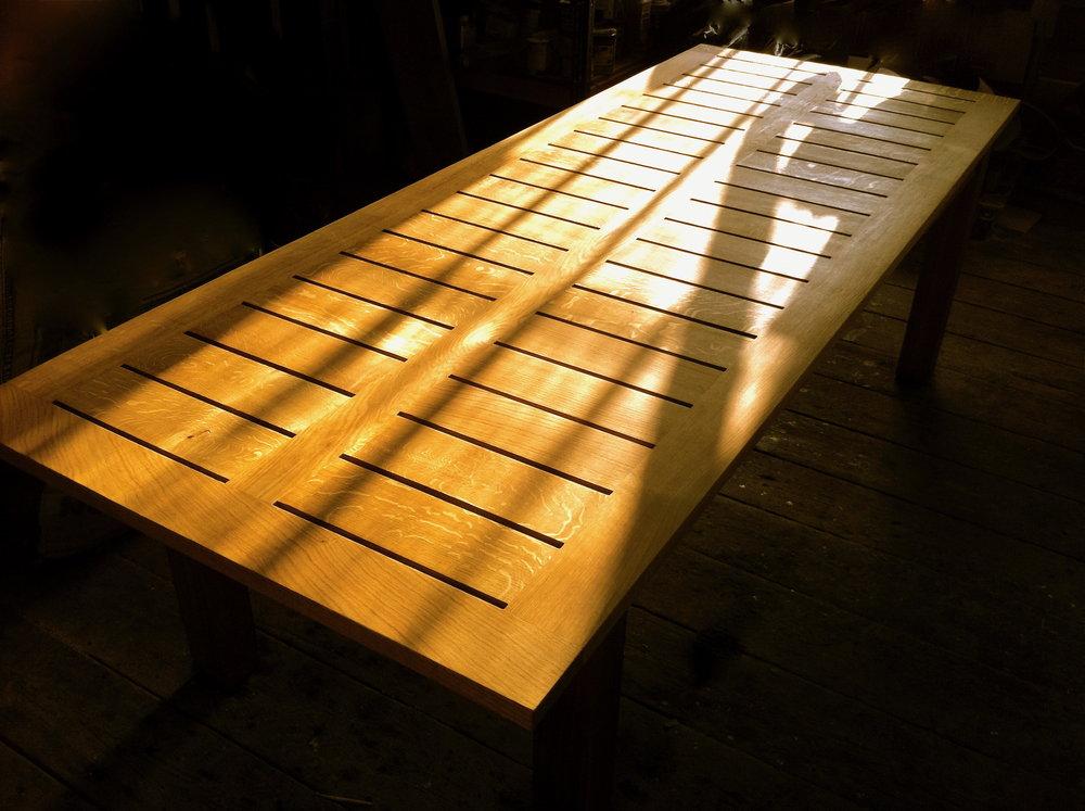 Oak Garden Table