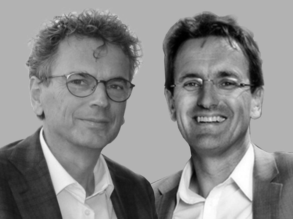 Directeur Leon Bobbe (links) en Frontrunner / Manager Ontwikkeling Rienk Postuma (rechts).