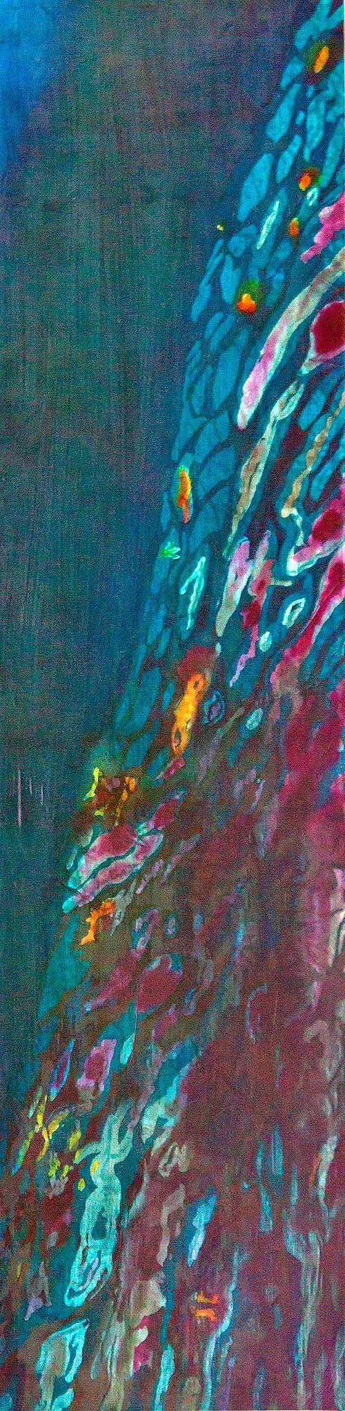 Agua XV: Reflections  mixed media  68 x 16 in