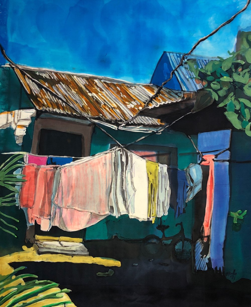 "Muffy Clark Gill  ""Wash Day: Tortuguerro"""