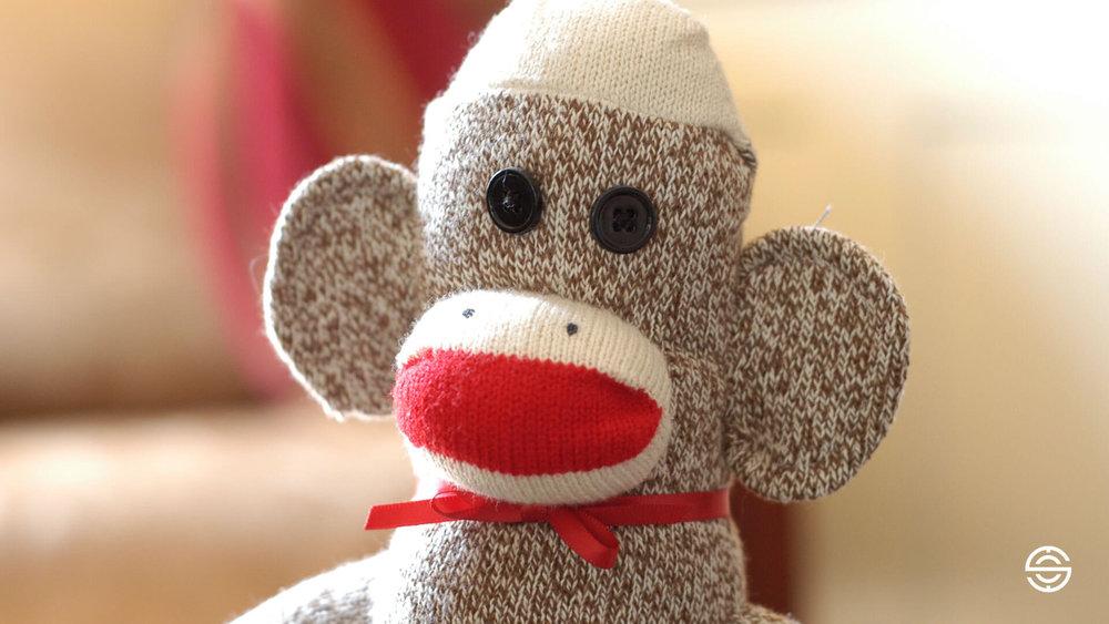 Physician Recruitment Sock Monkey