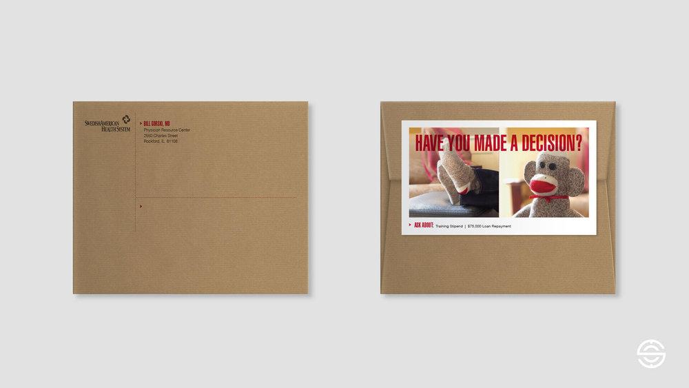 Physician Recruitment Follow-Up Direct Mailer Envelope