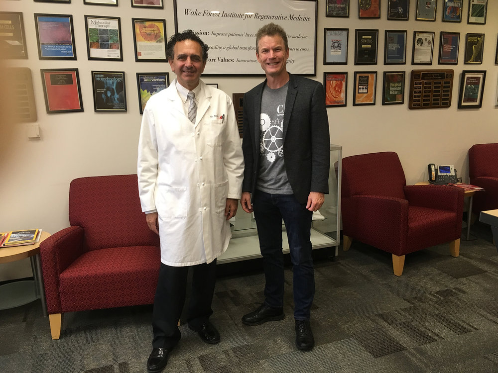 Meeting the amazing Anthony Atala at Wake Forest Institute of Regenerative Medicine - bioprinting organs to save lives.JPG