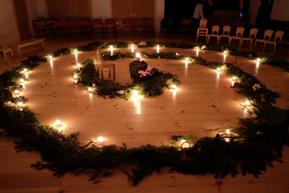The Winter Spiral representing carrying out light and sharing it with others.