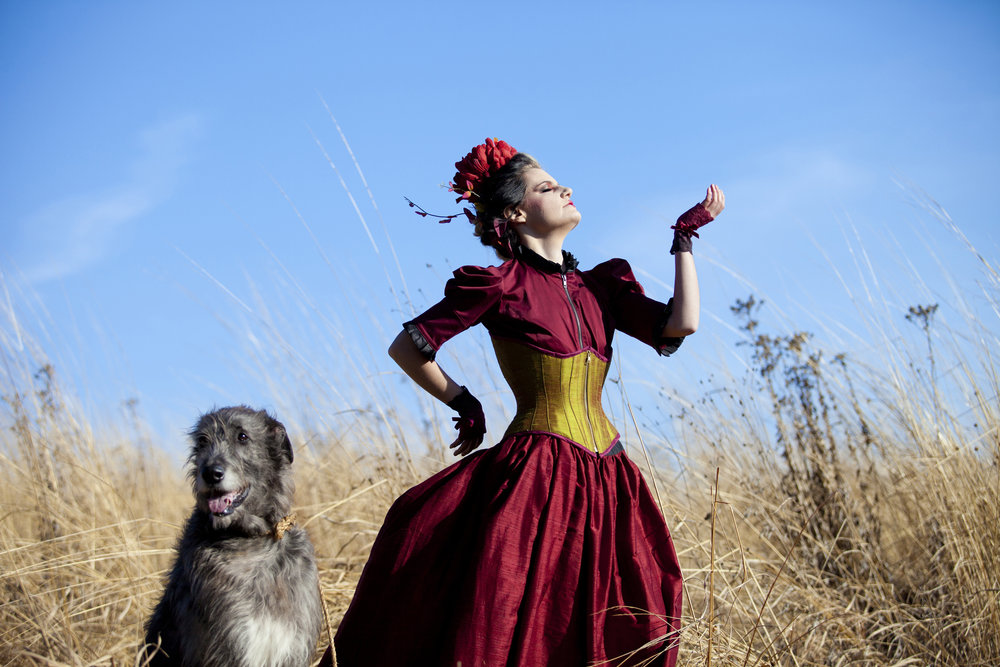 fashion photography with dog