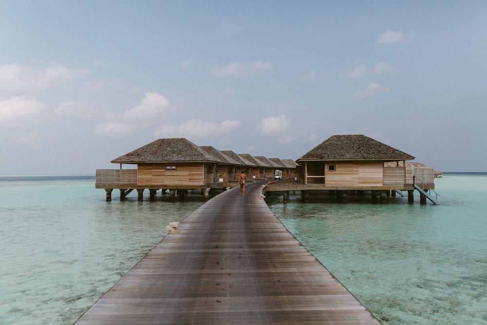 The overwater villas