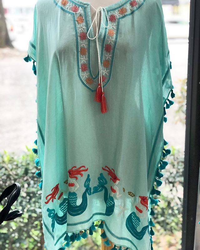 The sun is supposed to come back out for Easter Sunday ! Cute coverups in store now! #beachweather #eastersunday #happyeaster #shoplocal