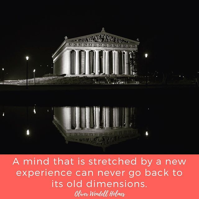 That's exactly how I felt the first time I visited the Parthenon in Nashville's Centennial Park. The only life-size replica of the one in Greece, it's a sight to behold. http://bit.ly/2BWB0B7 Photo credit: @visitmusiccity #thetravelingsouthernbelle #southerncharm #travelquotes #thesouth