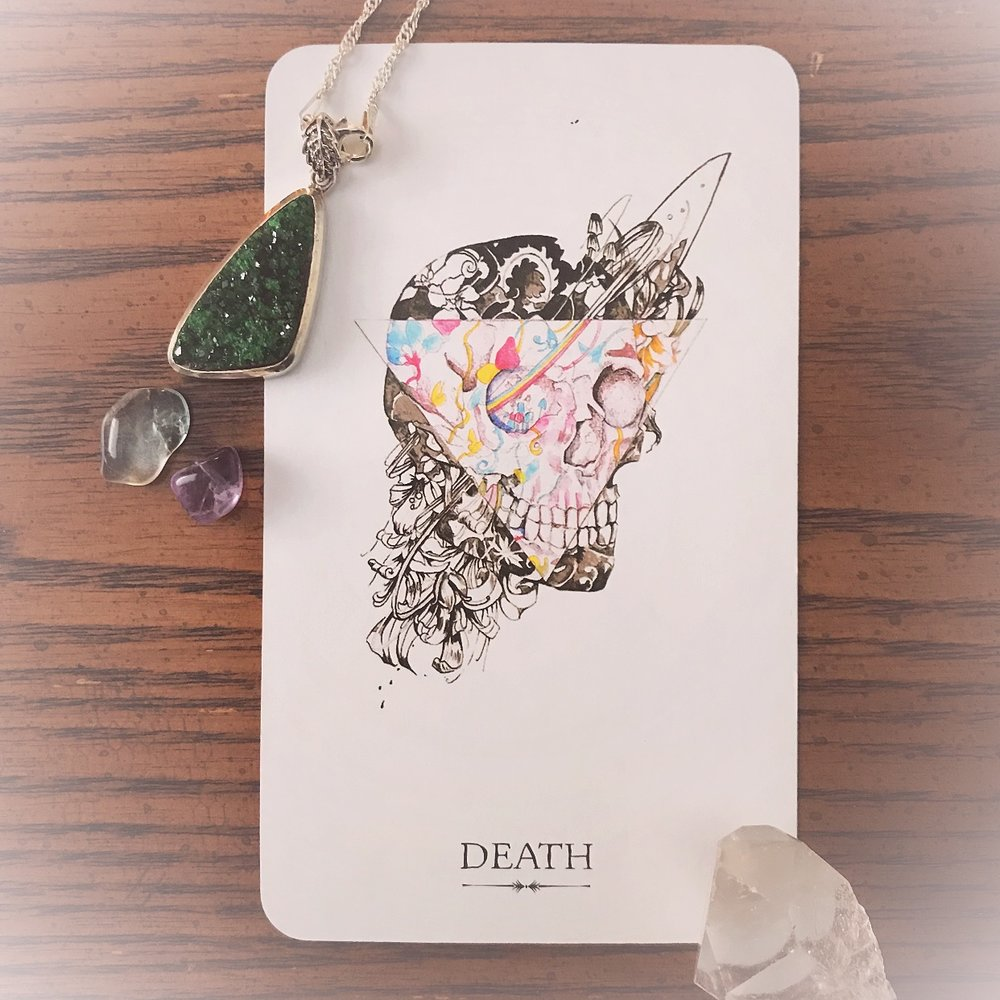 Death in the Tarot is  figurative . It represents change, transformation and new beginnings.