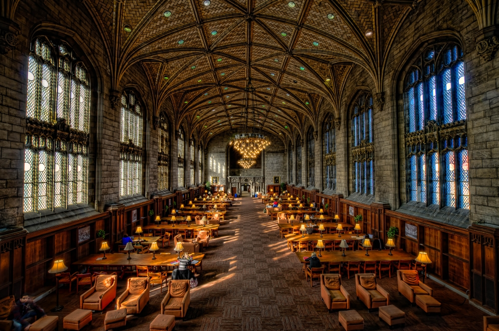 William Rainey Harper Memorial Library at the University of Chicago