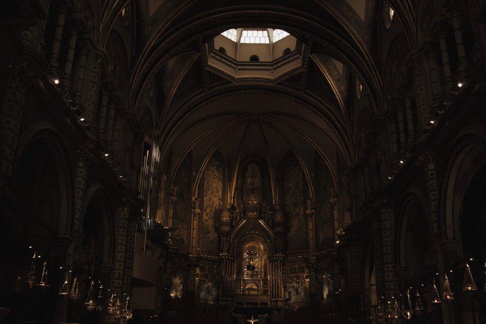 Montserrat Monastery in Barcelona, Spain