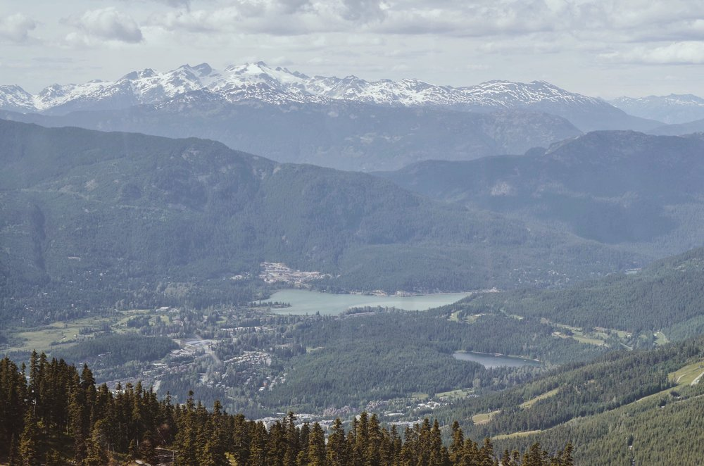 Beautiful mountains in Whistler, British Columbia