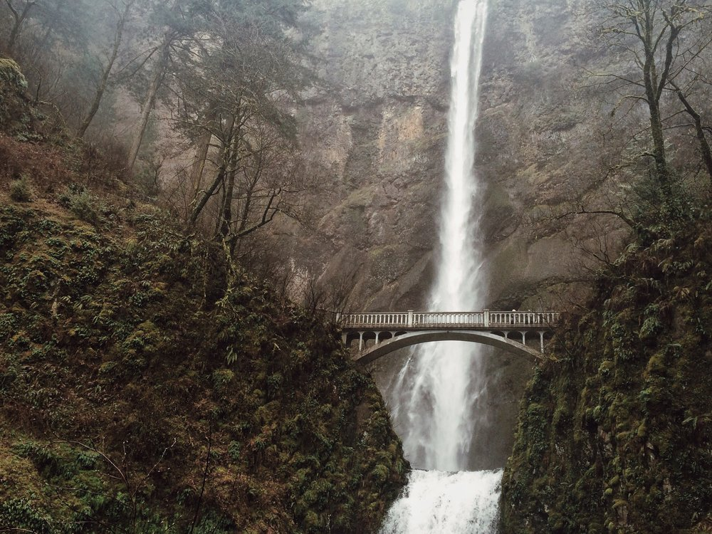 Multnomah Falls near Portland, Oregon.