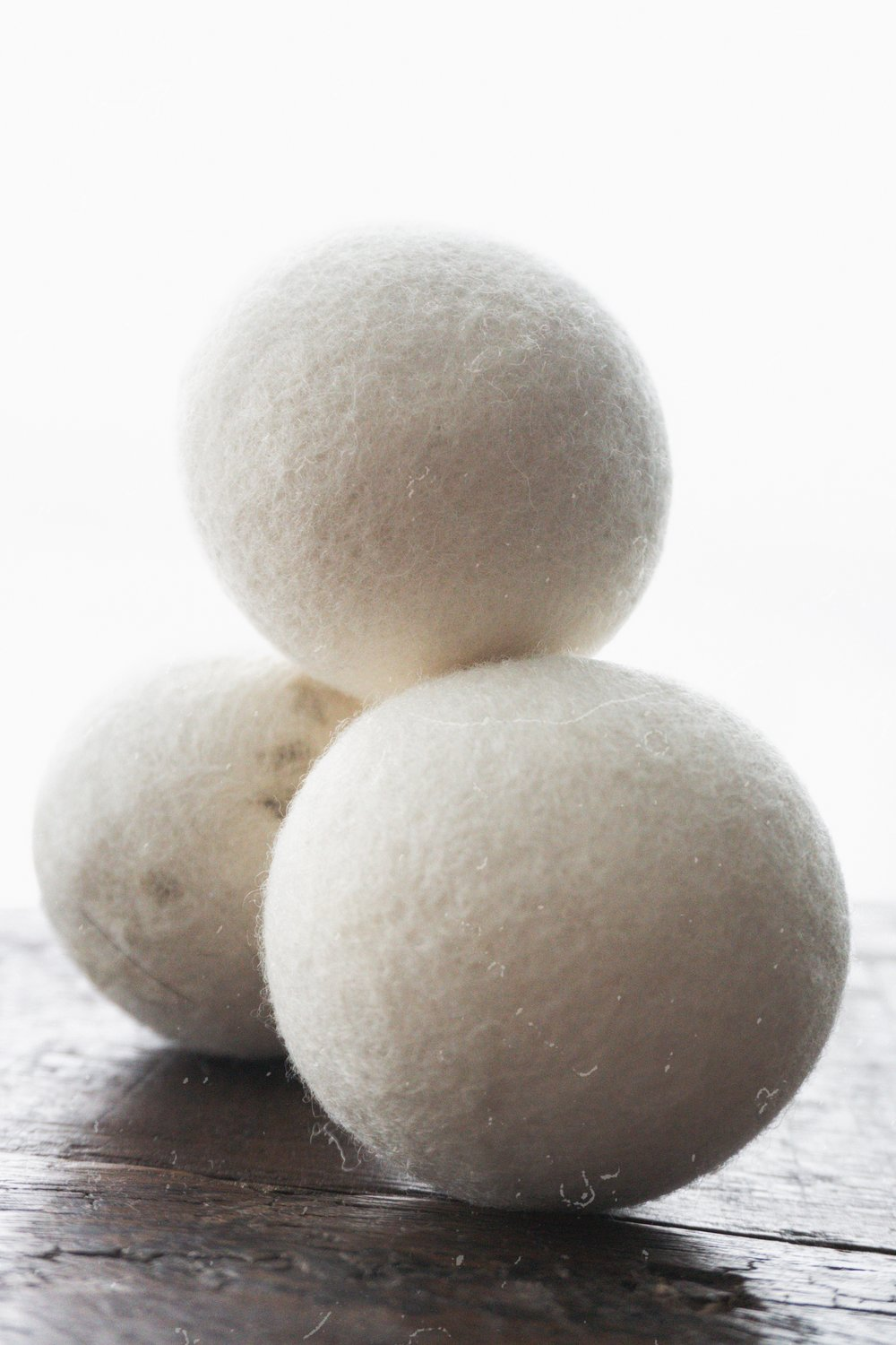 - I also got dryer balls from Amazon, and use them in every dryer load. I sometimes miss the smell of dryer sheets, but I also rarely used a full dryer sheet (I'd cut them in half) because the smell was at times overpowering. The only thing about these is that if you're like us and have a white furry dog and you always wear black, the dryer balls don't remove any fur - like at all. *I don't remember which ones I bought, but I linked a different kind from Amazon