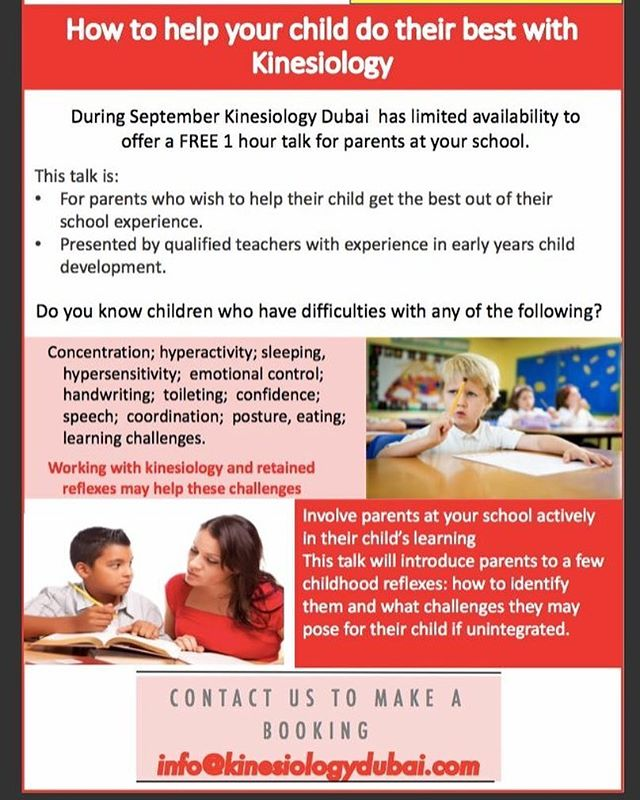 We have limited slots available during September for some free parent talks here in Dubai. If you would like to listen to more about what we do and how we work with children to help their learning, then please feel free to share this information with your schools so that they can secure their free place.