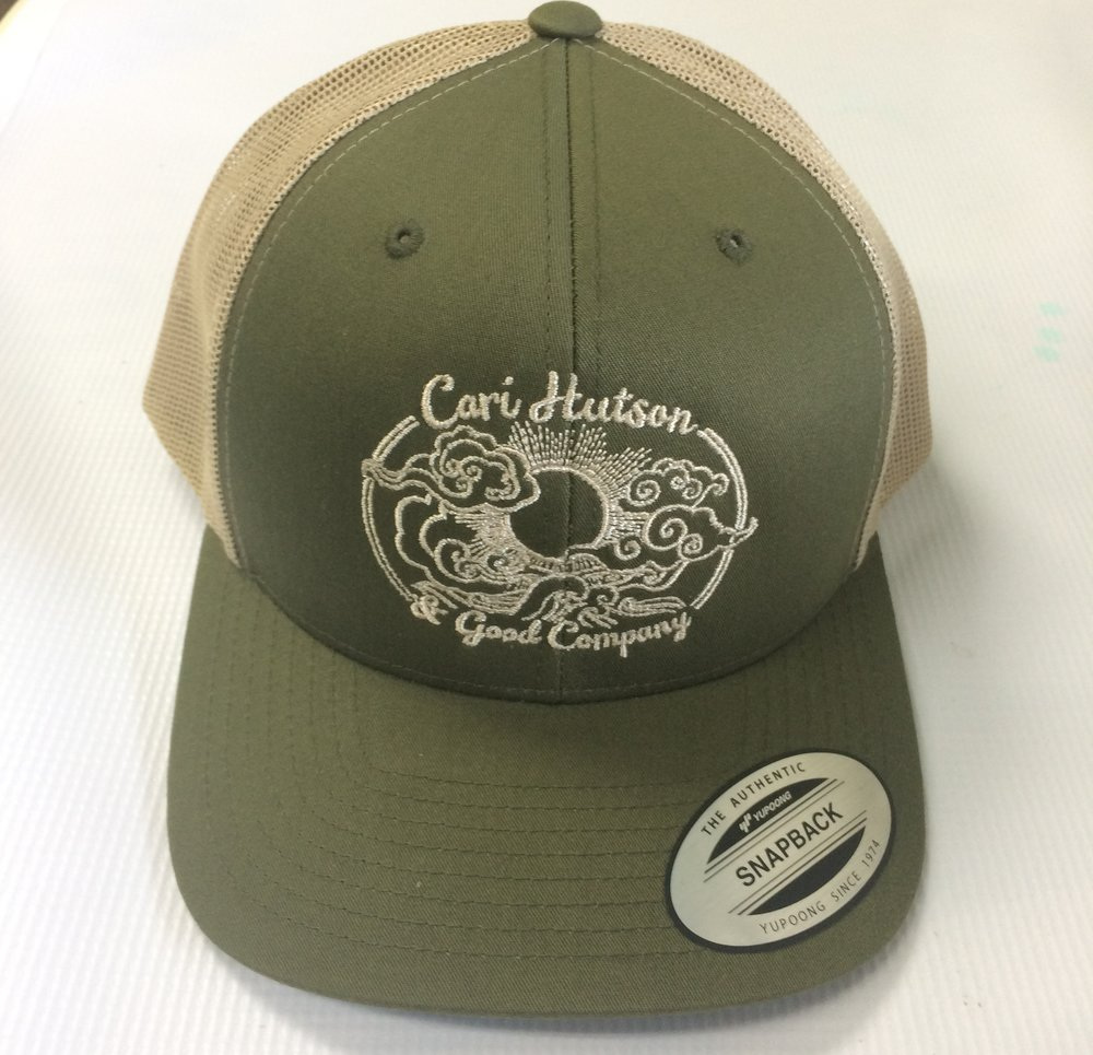 Custom embroidery on hats and caps.