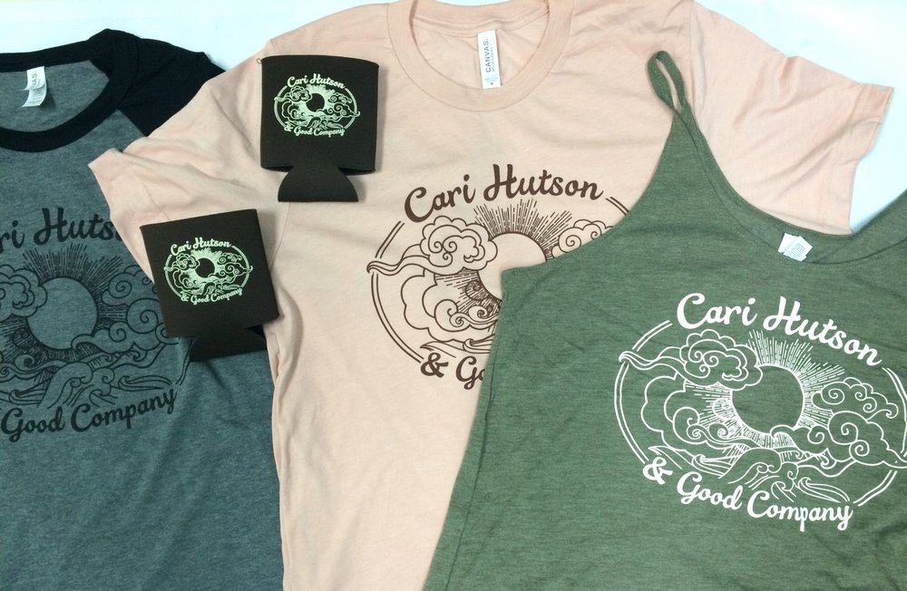 T-shirts and tanks printed by Pork Chop Screen Printing in Austin, Texas.